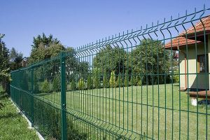 Triangle Wire Mesh clôture incurvée