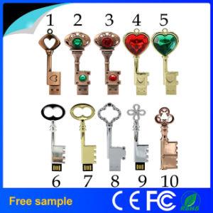 OEM-производитель оптовой индивидуальные металлические бронзовый ключ USB флэш-накопитель