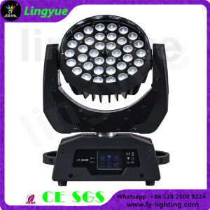 36pcs 6en1 Haz etapa Zoom Cabezal movible LED Wash