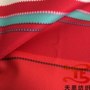 100% de poliéster 300d Gabardin Tecido exterior impresso com revestimento de PU 5K/5K