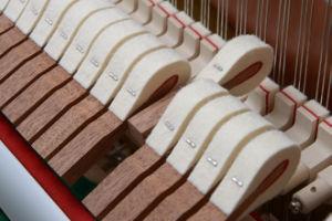 Instruments de musique noirs du piano droit A2-125 de Schumann
