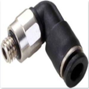 Codo de 90 grados de latón de neumáticos adaptador giratorio