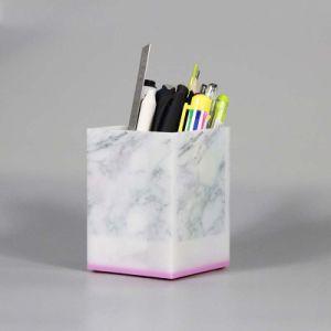 卸し売り工場供給のオフィスのための机のアクリルのゴミ箱のペンの表示ホールダー