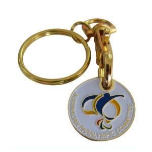 Großhandelsgold überzogene australisches Paralympics Ausschuss-Andenken-Laufkatze-Transportgestell-Scheinmünzen (016)