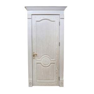 Fabriqué de haute qualité Le Chêne rouge avant l'intérieur en bois solides portes (YH-2052)
