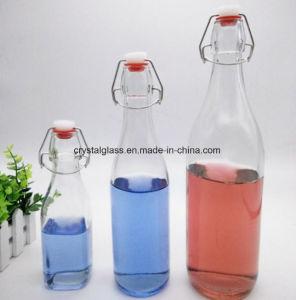 Frasco de vidro de fecho do logotipo personalizado Botttle Vinho Garrafa de Bebidas