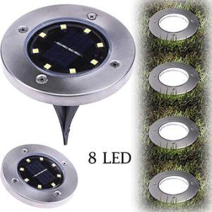 8PC LED wasserdichtes unterirdisch begrabenes Solarrasen-Licht für im Freiengarten