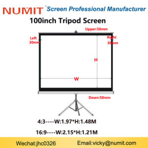 Foldable Projector Tripod Stand Screen