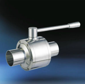 Valvola a sfera pneumatica sanitaria dell'acciaio inossidabile con la testa pneumatica verticale dell'acciaio inossidabile