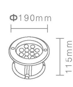IP68 12W de alta potencia de acero inoxidable 316L RGB LED empotrado bajo el agua de la luz de la piscina