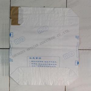Sac en papier kraft blanc avec la valve de remplissage de la machine