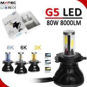 自動ヘッドライトの極度の白6000K 80W 9600lm LED 8000K H4 Canbusの自動照明キットH7 H13 880/881 3側面H4 LEDヘッドライト