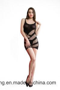 Tramo alto de la mujer sexy falda franjas Bodysuit Lingerie