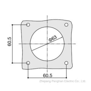 Ampère 32une norme européenne industrielle et fiches mâles et femelles de l'alimentation multiphase embase à montage panneau IP67