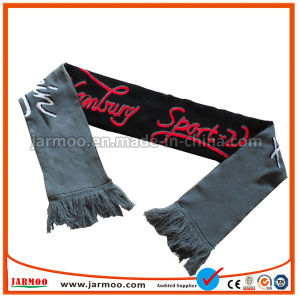 Lenço de futebol de acrílico lenço de futebol em malha Jacquard lenço dos fãs
