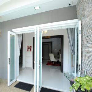 La puerta de Casement de aluminio con doble vidrio vidrio