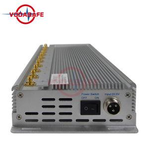Quarto Socador Rcied Jammer/Bloqueador para um telemóvel /Wi-Fi/ UHF/VHF, Telemóvel Jammers Walkie-Talkie e bloqueadores de radiofrequência.