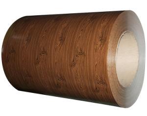 زهرة طباعة لون فولاذ ملفّ مع أسلوب خشبيّة