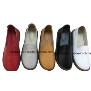 方法靴のスリップの平らな女性のなまけ者の靴は非常に良質を設計する