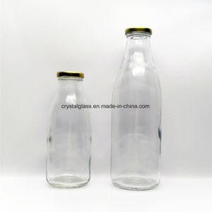 200ml/250ml/500ml de suco de vidro vazia com a tampa do vaso de leite