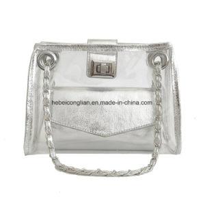 Nueva llegada del verano femenino jalea transparente de plástico de PVC bolso de hombro de la cadena de Crossbody Señoras Bolso Messenger
