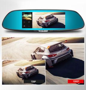 3G verdoppeln Spiegel-Videogerät-Gedankenstrich-Nocken des Objektiv-Autorearview-DVR der Kamera-7 des Zoll-5 des Zoll-FHD 1080P GPS Bluetooth
