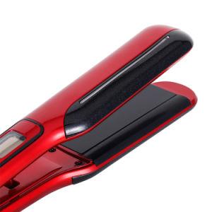 LED com revestimento em cerâmica visor de tela azul alisador de cabelo ferro plana