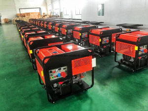 12kwは2V92 Air-Cooledディーゼル機関によって動力を与えられるディーゼル発電機を開く