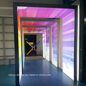 Arcos de arco-íris publicidade adesiva de dupla luz de alumínio tecido LED Caixa de Luz