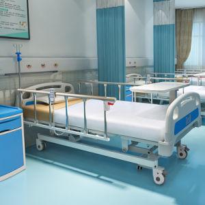 A6K La Fábrica de Equipos Médicos de acero inoxidable de 3 funciones de la ICU eléctrico plegable cama de hospital con ruedas fabricantes
