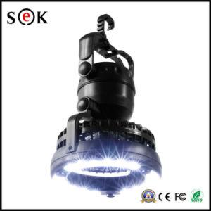 Una lanterna di campeggio ricaricabile allungabile autoalimentata solare di 6 SMD LED con il ventilatore