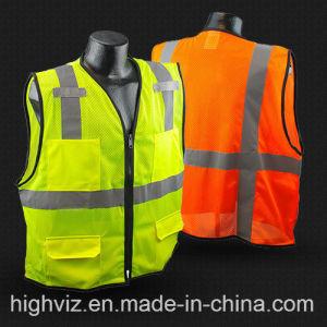 Colete de segurança com bolsos ANSI107 Standard