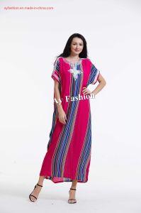 Mode d'impression de l'Afrique de l'amour Sahara Kaftan musulman robe de vêtements robe de coton de style