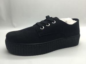Plano de ocio más populares los zapatos de cuero para la Mujer (6132)