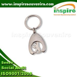 昇進のためのショッピング硬貨のトロリーキーホルダー
