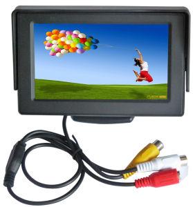 TFT de 4,3 polegadas Carro Monitor/ 4.3 polegadas 2 entradas AV Monitor LCD de CCTV