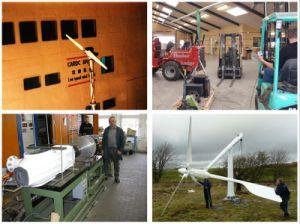 Анэ 10квт шаг контролируется ветровой турбины для питания системы