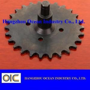 Arbre de roue dentée en acier noirté