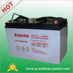 Batería de gel de energía solar de 12V 120Ah
