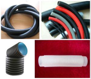 El plástico PVC Tubo ondulado de doble pared de la línea de extrusión