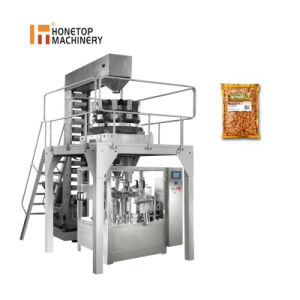 Fecha de alimentos para mascotas automático de arroz de grano de maní de la bolsa de patatas fritas preparadas máquinas de Embalaje Embalaje