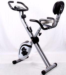 Gimnasia apta de la resistencia magnética de la carrocería plegable la bici magnética del ejercicio vertical