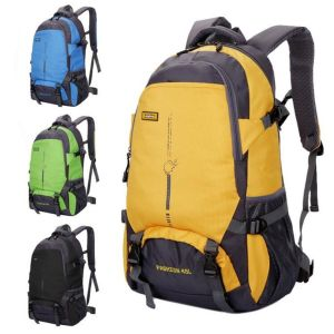 Gran capacidad personalizada 45L de nylon impermeable mochila de senderismo viajes al aire libre