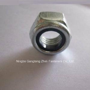 Écrous de blocage en nylon de la pente 8 galvanisés de Cr+3 DIN985