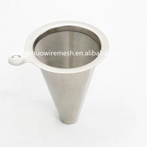 Filtre à café en acier inoxydable réutilisables Ultra Fine filtre à café en métal de la trémie de Wire Mesh de filtrage de café