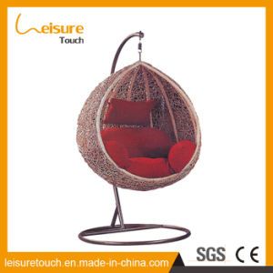 PE-tejido Rattan sintético mobiliario de patio jardín silla columpio Hamaca de mimbre