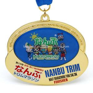 주문을 받아서 만들어진 금속 일본 절반 마라톤 스포츠 메달