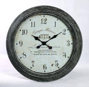 Casa de estilo antiguo reloj de pared Metal rústico decorativo