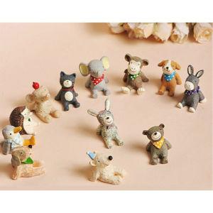 Resina novidade mini-figuras de animais Figura Japão Cartoon animais dom decoração doméstica