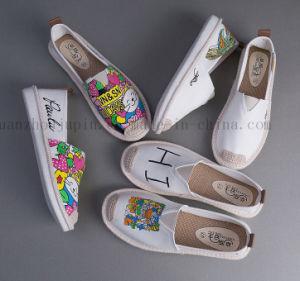 Bricolaje personalizado Garabato Doodle Plimsolls Blanco Zapatos de lona